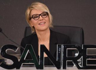Sanremo: Maria De Filippi durante la conferenza stampa