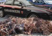 furto rame carabinieri