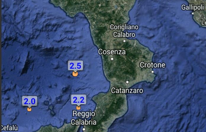 Terremoto 2.5 tirreno cs