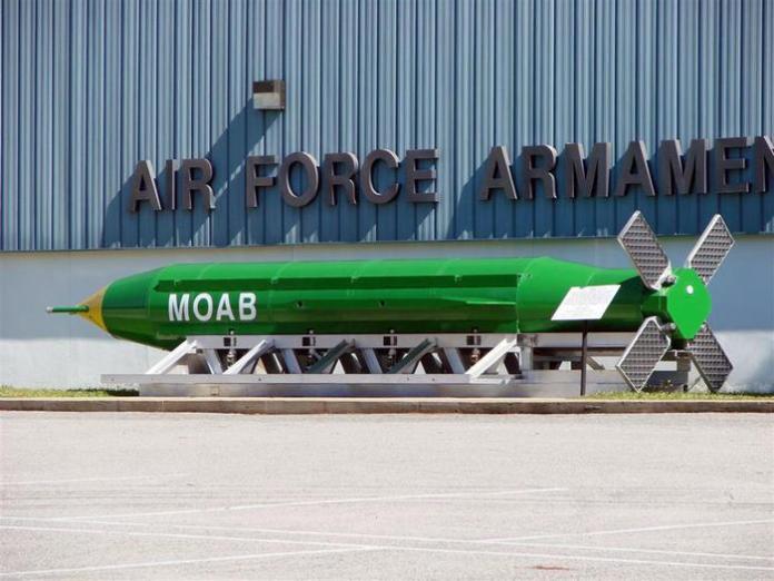 La bomba MOAB (GBU-43/B Massive Ordnance Air Blast) sganciata dagli Stati Uniti sull'Afghanistan orientale