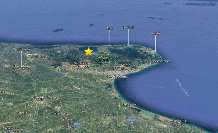 terremoto Cagnano Varano Foggia