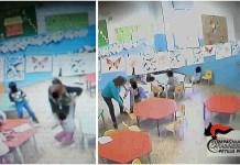 Due immagini della scuola di Cotronei diffuse dai carabinieri della Compagnia di Petilia Policastro