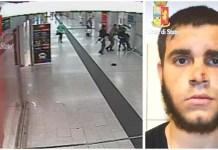 Un frame dell'aggressione a Milano. A destra Ismail Tommaso Hosni, arrestato e indagato per terrorismo