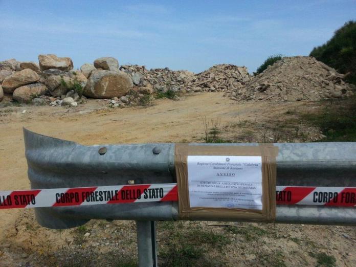 La discarica sequestrata a Campana (Cosenza)