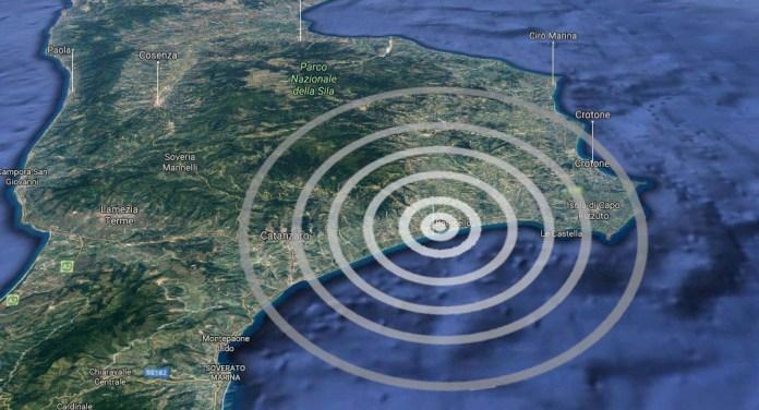 terremoto Catanzaro botricello cropani