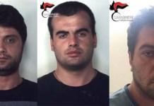 Da sinistra i georgiani arrestati Pilpani Giorgi, Davit Gazdeliani e Levani Gogichashvili
