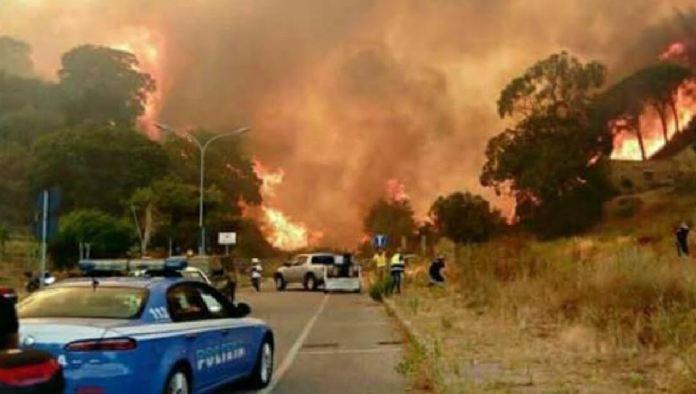 Appicca incendio ma viene segnalato da residente, preso piromane