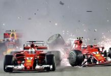Ferrari crash Gran premio F1 Singapore