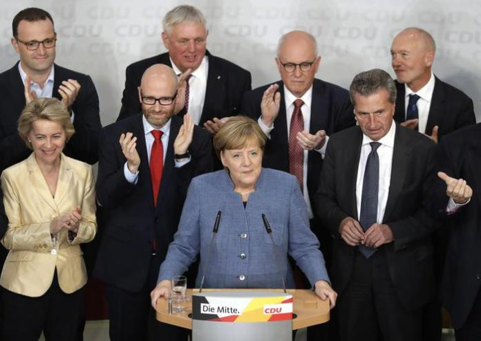 Angela Merkel parla dopo i risultati