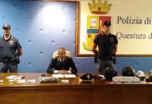 conferenza stampa polizia su rapina a Reggio Calabria
