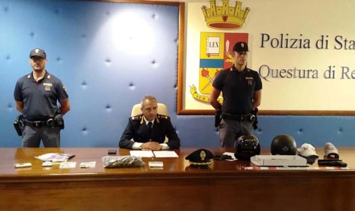 conferenza stampa polizia reggio