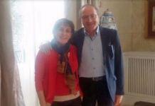 La direttrice della biblioteca, Rita Fiordalisi e il presidente della provincia di Cosenza Franco Iacucci