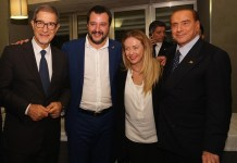 In foto Musumeci, Salvini, Meloni Berlusconi