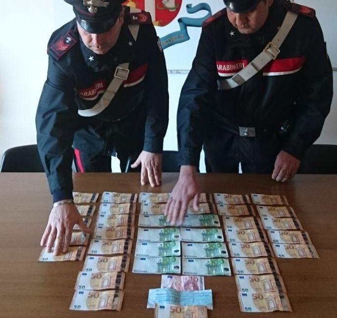 denaro falso corigliano, arrestati Saverio Barone, una rumena e un incensurato