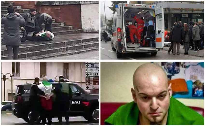 Orrore a Macerata, spara da auto in corsa: stranieri tra feriti