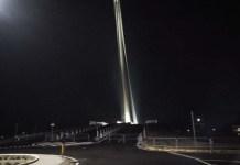 Le transenne sul ponte di Calatrava