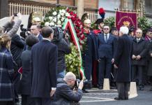 Sergio Mattarella nelle celebrazioni in via Fani