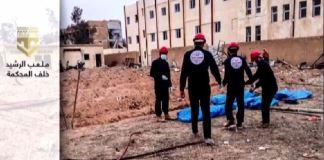 fossa comune raqqa siria