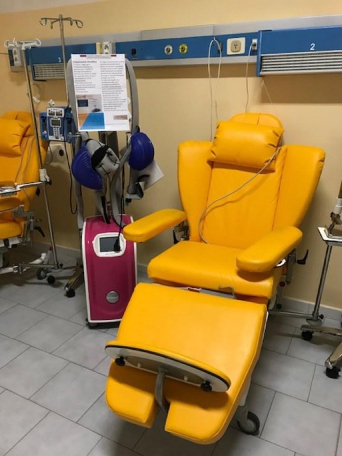 Macchinario per pazienti in chemioterapia