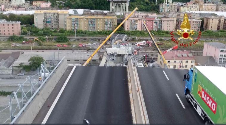 Ponte Morandi drone