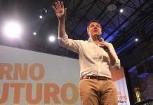 Matteo Renzi durante la manifestazione della Leopolda