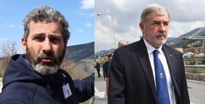 Da sinistra i due commissari per la ricostruzione post terremoto e ponte di Genova: Piero Farabollini e Marco Bucci