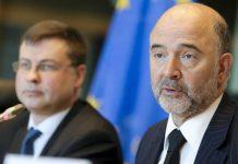 Valdis Dombrovskis e Pierre Moscovici