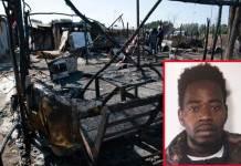 incendio tendopoli Moussa Ba