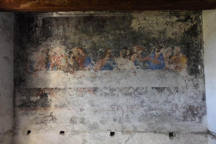 """Dipinto """"Ultima cena"""" in convento cappuccini a Saracena"""