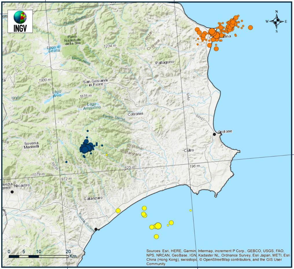 Terremoti in Calabria, in atto tre sciami. L'Ingv installa nuove stazioni di monitoraggio