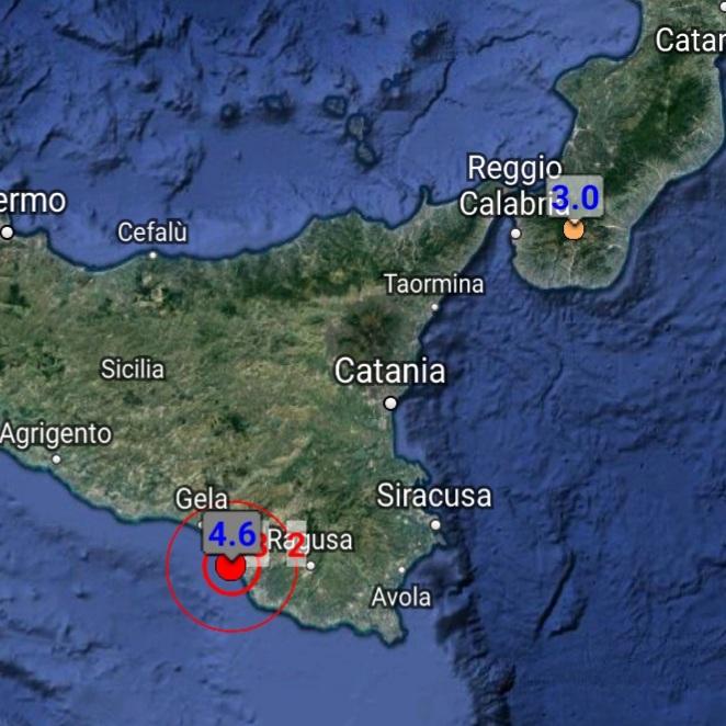 Forte terremoto in Sicilia: magnitudo 4.6. Panico nella popolazione