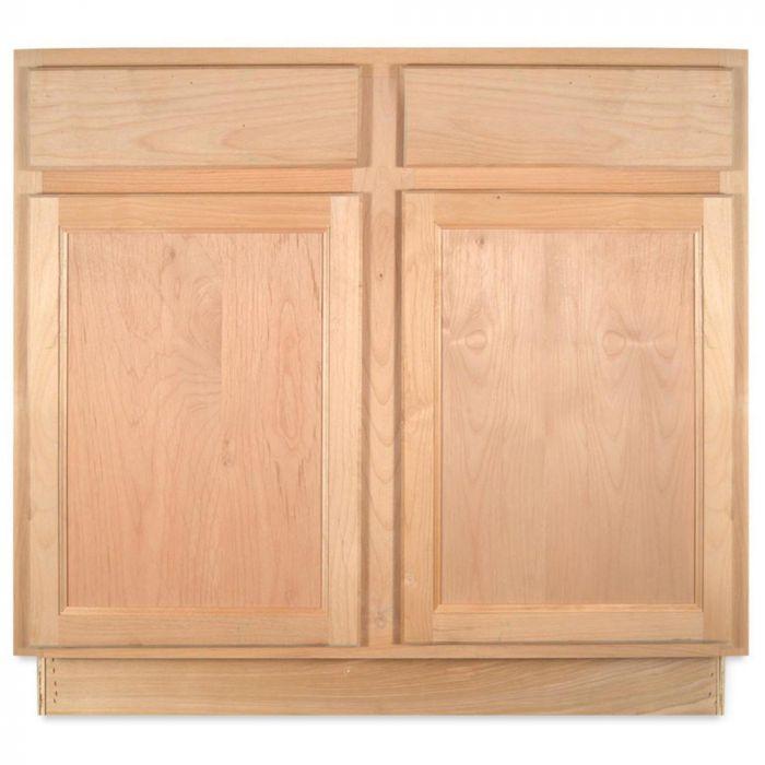 sink base 36 unfinished alder kitchen cabinet