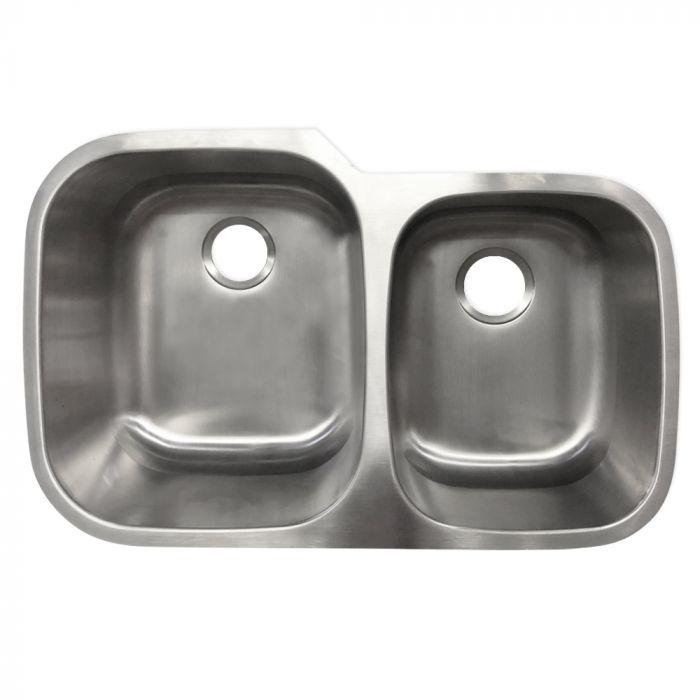 undermount stainless steel 60 40 sink