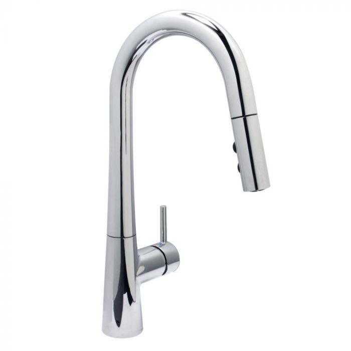 huntington brass vino pull down kitchen faucet polished chrome