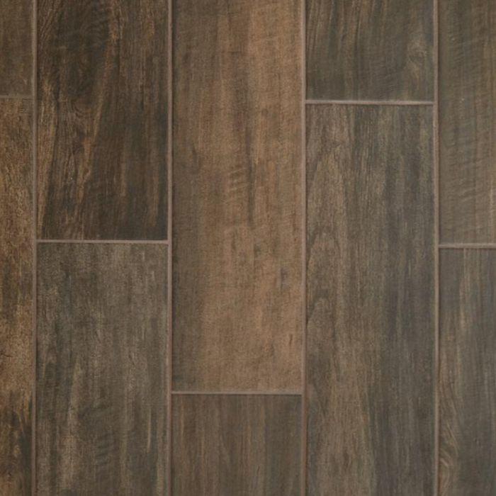 daltile brentwood walnut 6 x 24 wood look porcelain tile