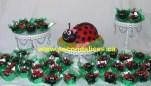 Ladbug Cake n cupcakes