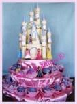 Princess Birthday Cake and cupcakes