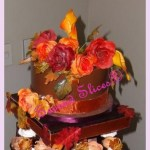 fall colors wedding brown cake from Second Slices® Cake shop n bakery in Edmonton AB