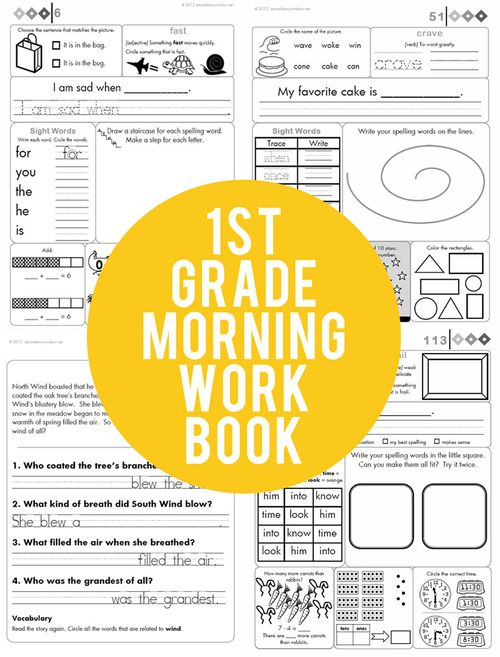 1st Grade Common Core Aligned Morning Work from Second Story Window