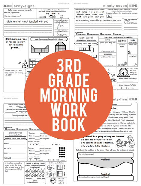 photo regarding Free Printable Morning Work for 3rd Grade known as 3rd Quality Preferred Main Aligned Early morning Exertion