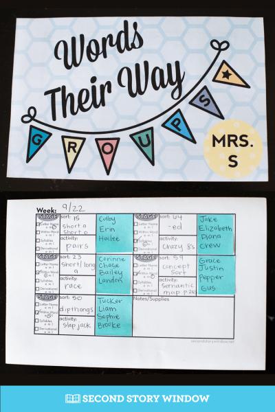 Words Their Way Activities Organization Planning Book