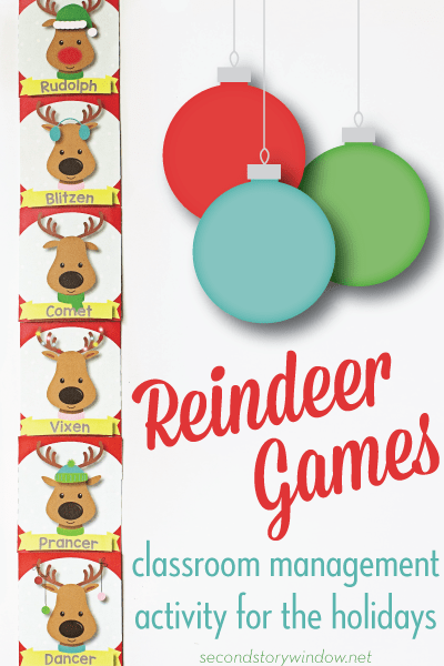 Reindeer Games Holiday Classroom Management Freebie