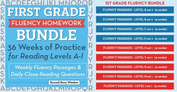 1st grade fluency homework