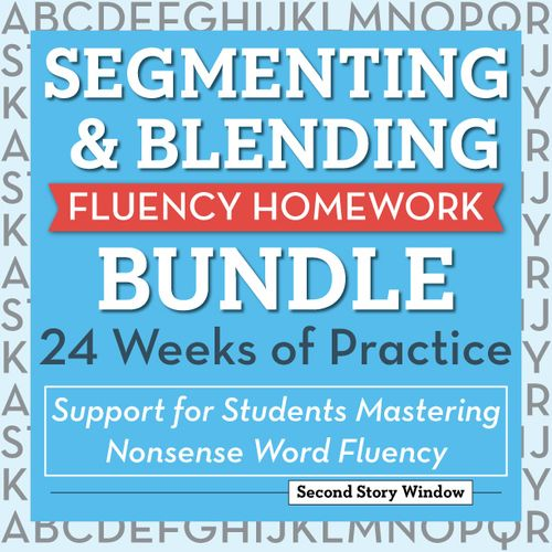 SBeginning Fluency: Segmenting & Blending (for students mastering nonsense word fluency)