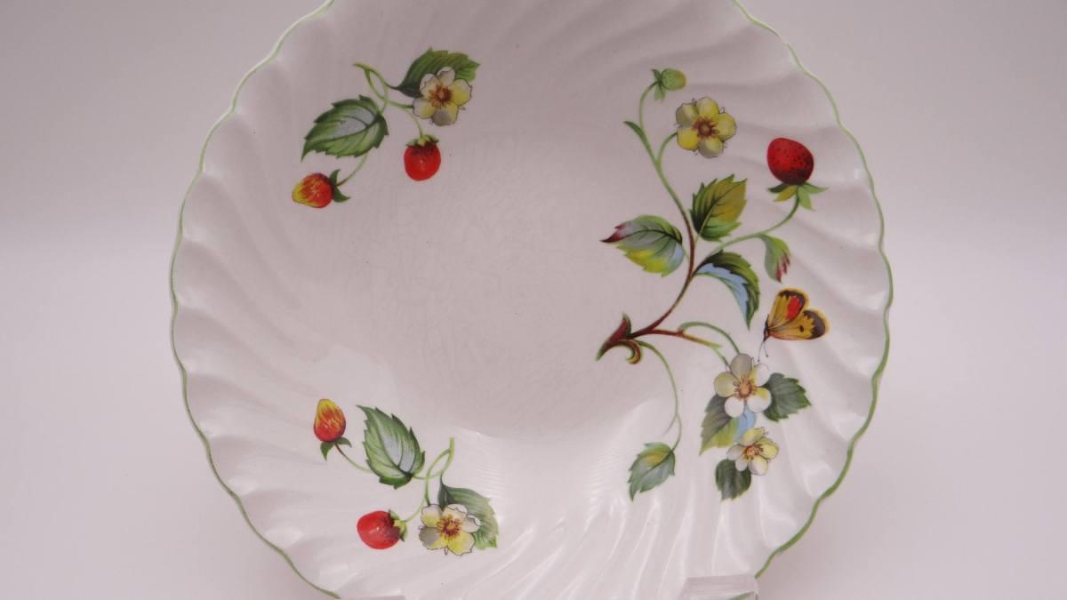 English Mid Century Vintage James Kent Old Foley Rectangular Floral Sandwich Cake serving plate bone china