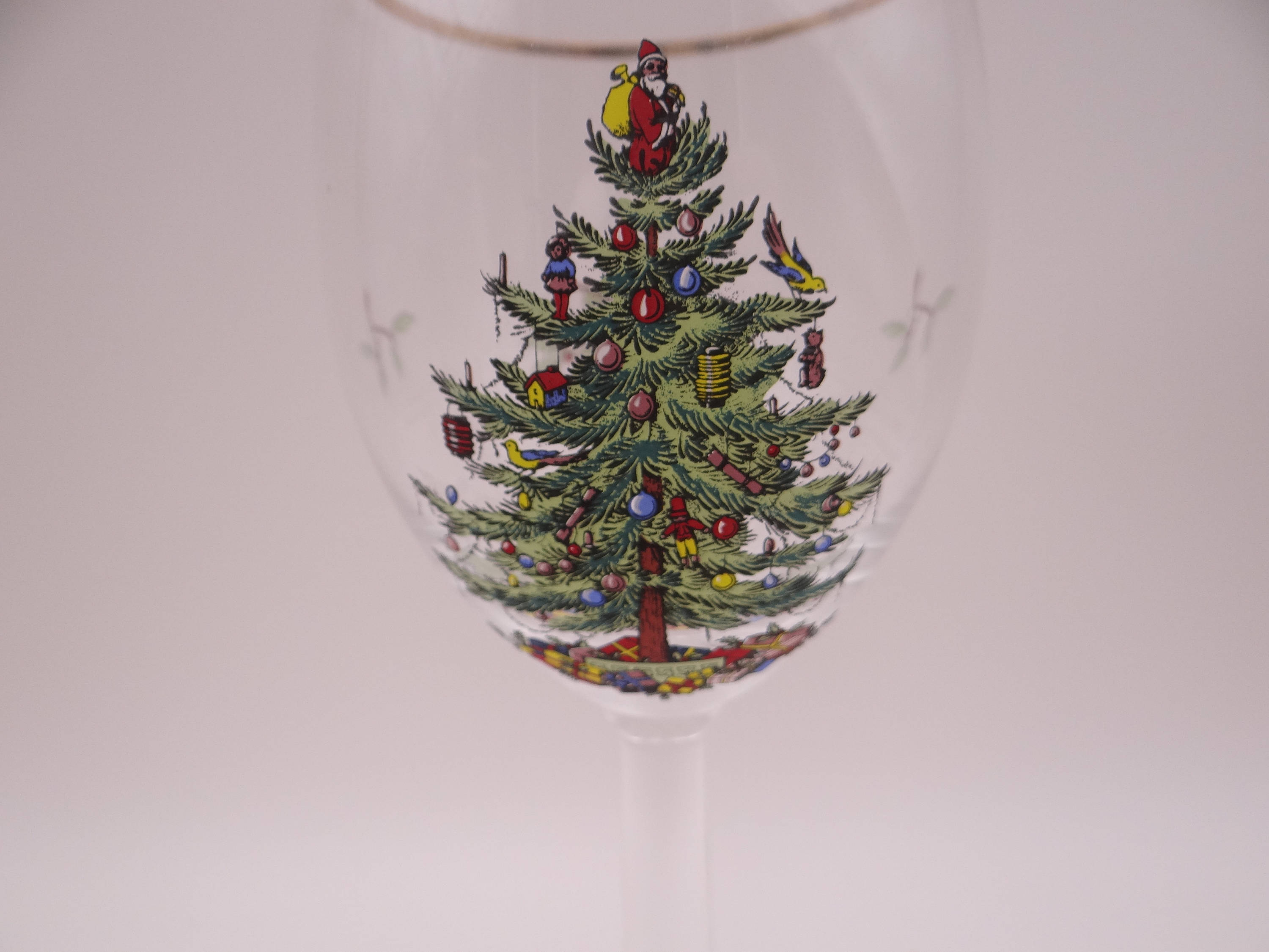 Spode Christmas Tree Wine Glass – 6 Available – Second ...