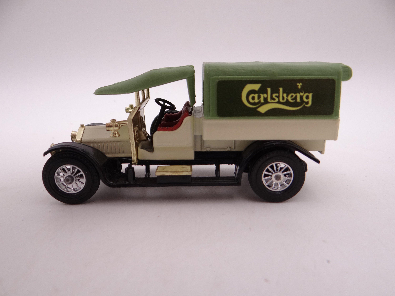 Mib Vintage Matchbox Y 13 Models Of Yesteryear 1918 Crossley Carlsberg Truck Die Cast Car