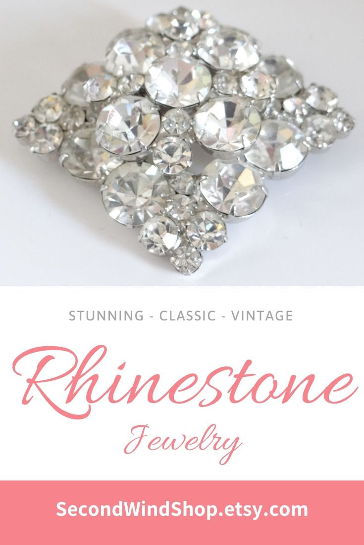 Vintage Clear Rhinestone Silvertone Setting Costume Jewelry Ring by VinJewels Studio Located in Abbotsford BC Canada