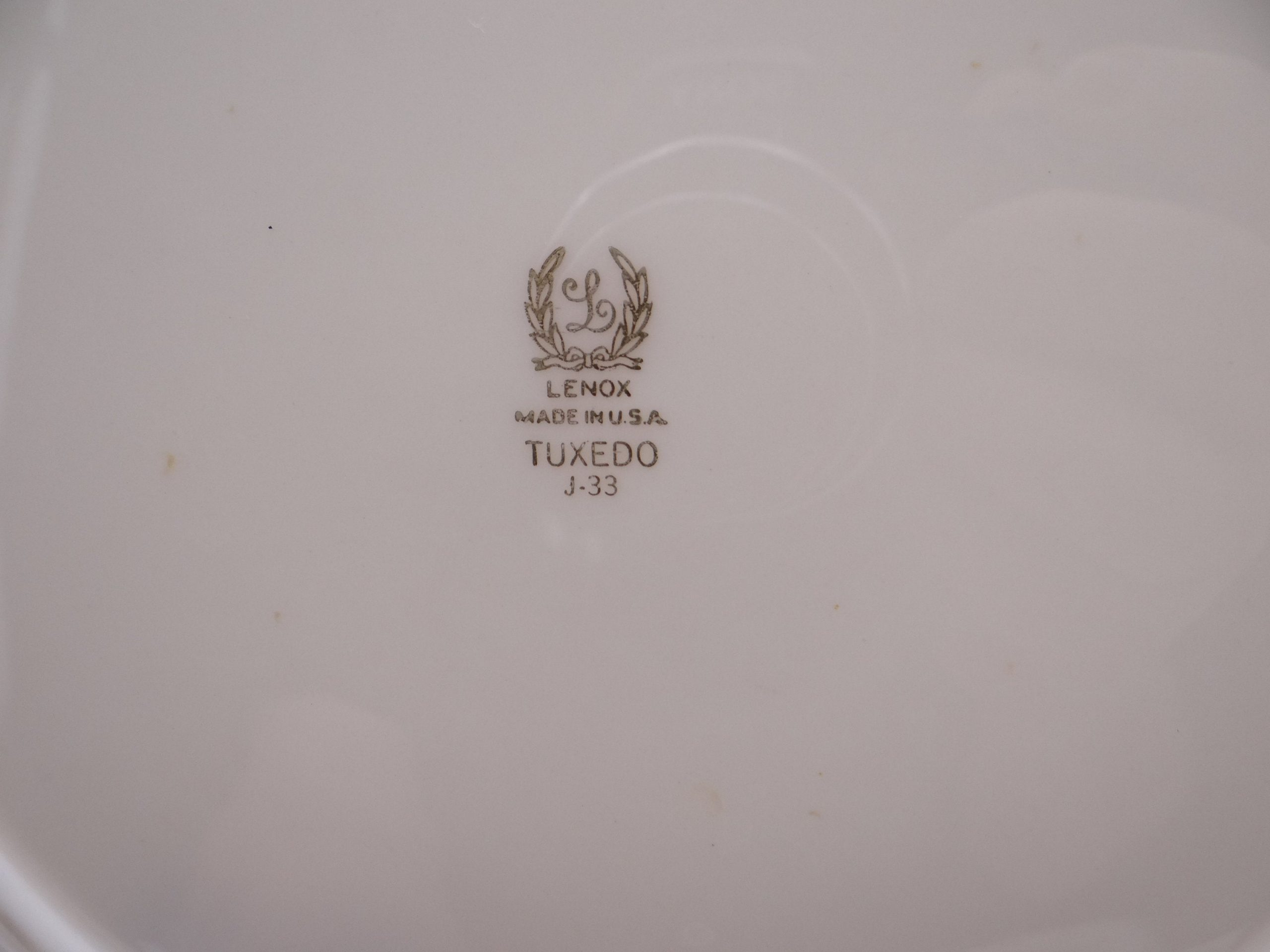 Vintage Lenox Tuxedo Salad or Luncheon Plate 13 Available