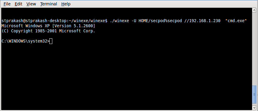 winexe command execution